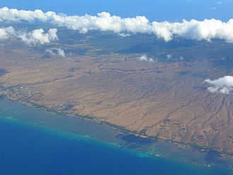 East Molokai Volcano - Aerial photo of the southwestern flank of East Molokai Volcano