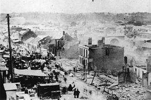 Great fire of Brisbane - Aftermath of the Great Fire of Brisbane - Queen Street