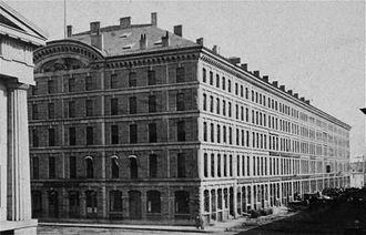 State Street Block (Boston) - State Street Block, Boston, ca. 19th c. (Custom House at left edge)