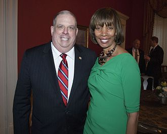Catherine E. Pugh - Pugh with Governor Hogan at the 2016 State of the State Reception