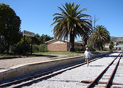 Avontuur's narrow gauge railway station