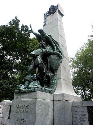 Adam Dollard des Ormeaux - Alfred Laliberté's Adam Dollard des Ormeaux in parc Lafontaine Montréal, Quebec