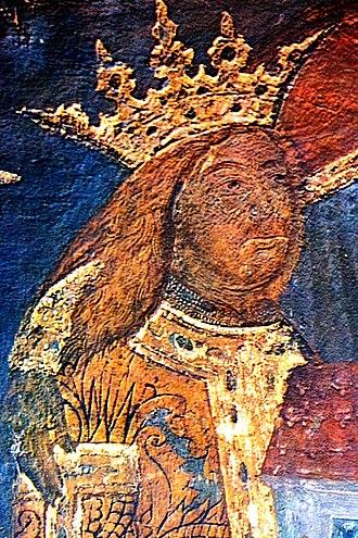 History of Moldova - Fresco of Stephen the Great at Voroneț Monastery