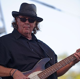 Steve Gustafson - Gustafson performing with 10,000 Maniacs at Pittsford Park in Lake Forest in 2015