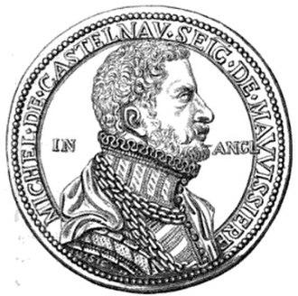 Michel de Castelnau - Portrait medal of Michel de Castelnau, Sieur de la Mauvissière, by Steven van Herwijck, 1565.