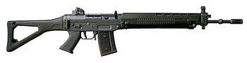 A SIG SG 550  assault rifle