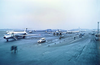 Stockholm Bromma Airport - The apron in 1971