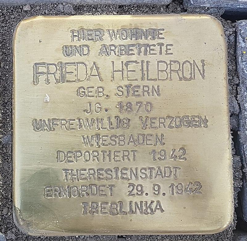 Stolperstein Aalen Frieda Heilbron Bahnhofstraße 18.jpg
