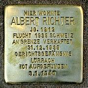 Stolperstein Albert Richter
