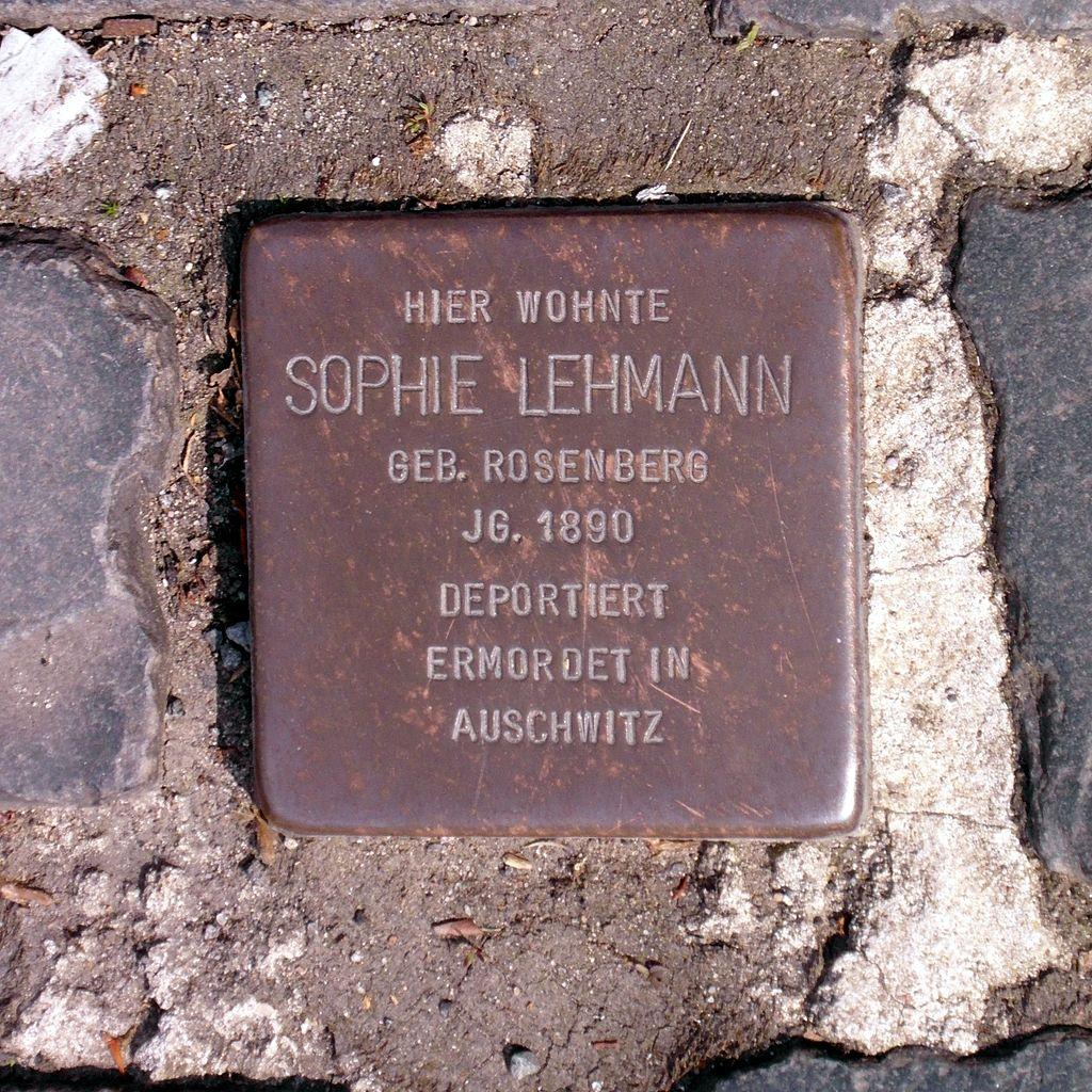 Stolperstein Sophie Lehmann