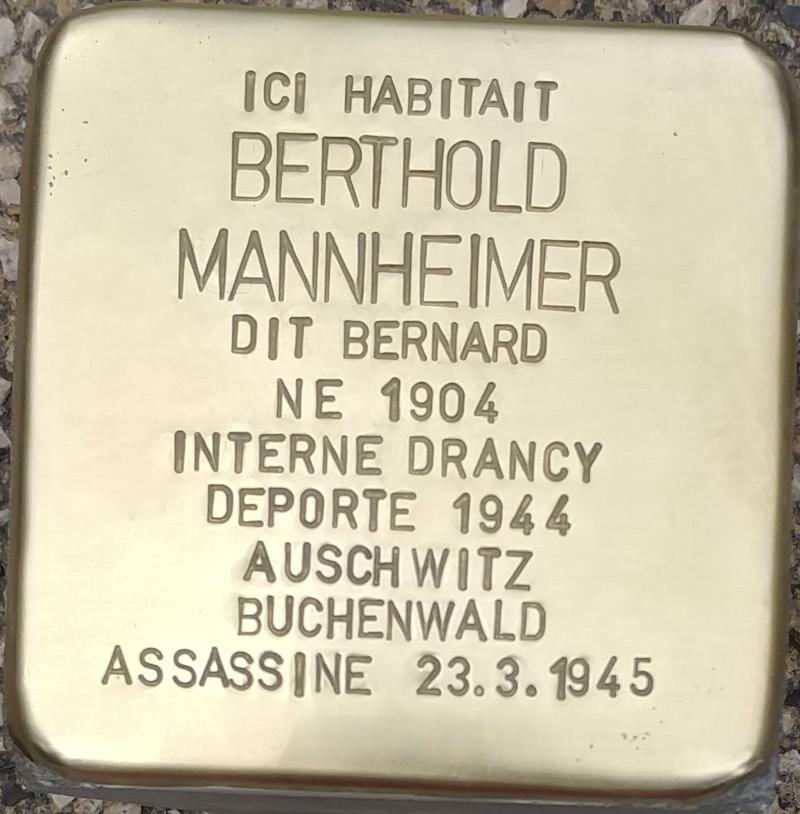 Stolperstein Berthold Mannheimer (Muttersholtz)