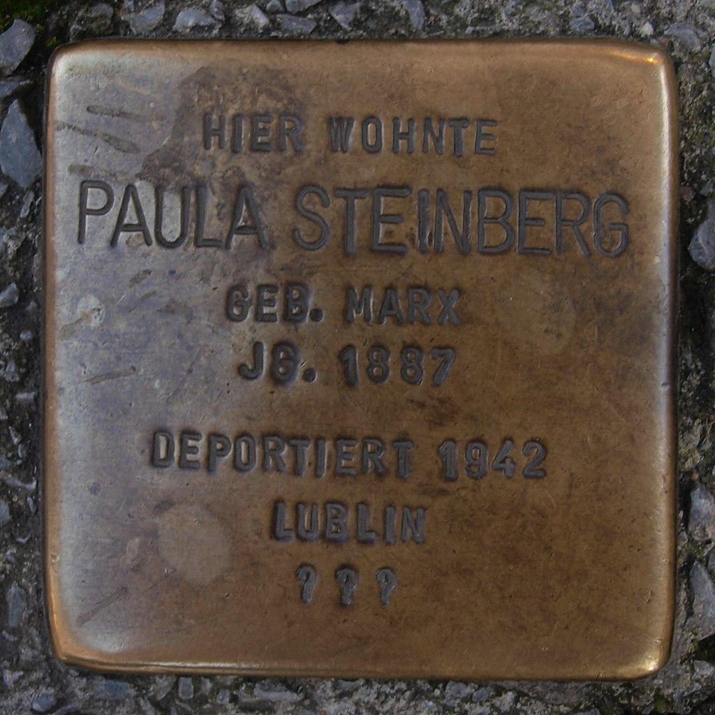 Stolperstein Bingen am Rhein Speisemarkt 14 Paula Steinberg.jpg