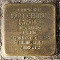 Stolperstein Gartenstr 114 (Mitte) Marie Gertrud Lazarus.jpg