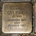 Stolperstein Gelsenkirchen Arminstraße 3 Carl Posner.JPG