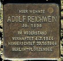 Stolperstein Adolf Reichwein