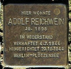 Photo of Adolf Reichwein brass plaque