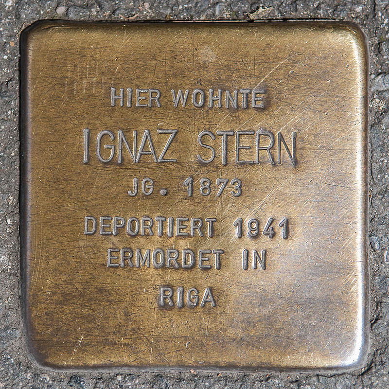 Stolperstein Ignaz Stern by 2eight 3SC1315.jpg