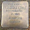 Stumbling block for Franziska Kühne (Bergisch Gladbacher Straße 1033)