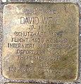 Stolperstein Kleve Lindenallee 32a David Weyl.jpg