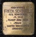 Stolperstein Motzstr 11 (Schön) Frieda Schönfeld.jpg