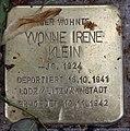Stolperstein Pariser Str 49 (Wilmd) Yvonne Irene Klein.jpg