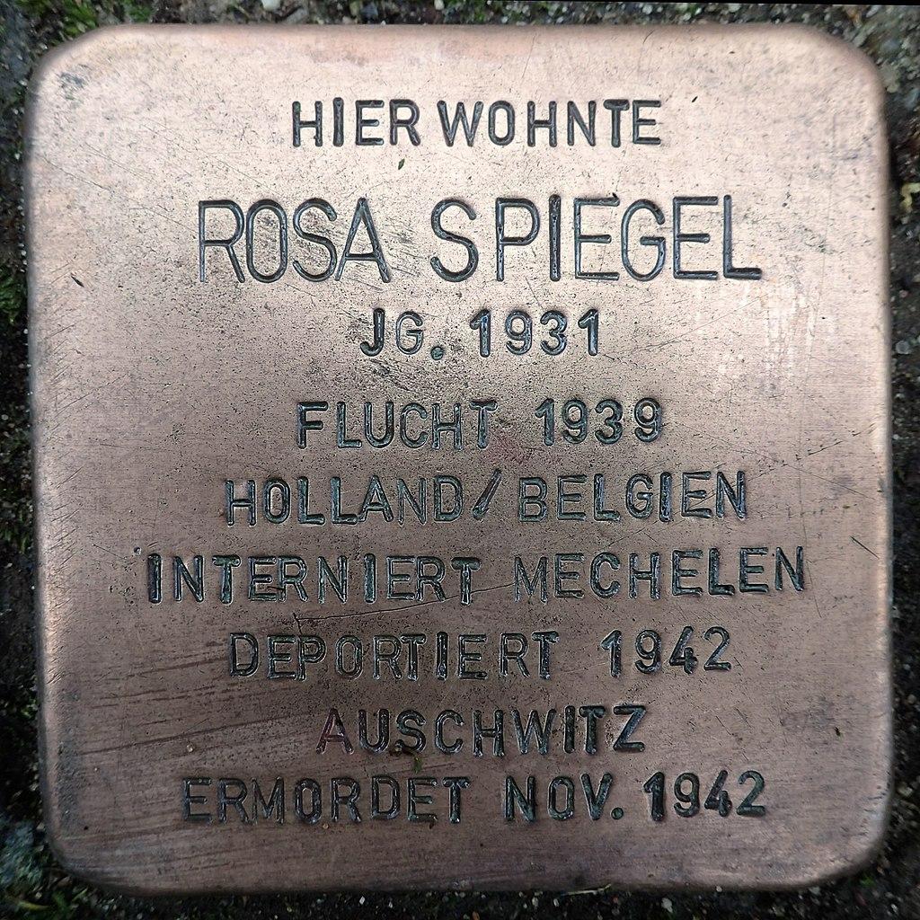 Stolperstein für Rosa Spiegel