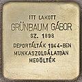 Stolperstein für Gabor Grünbaum (Budapest).jpg