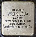 Stolperstein für Julia Wachs (Nyíregyháza).jpg