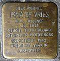 Stolpersteine Krefeld, Irma de Vries (Oelschlägerstraße 63).jpg