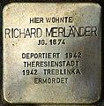 Stolpersteine Krefeld, Richard Merländer (Friedrich-Ebert-Straße 42).jpg