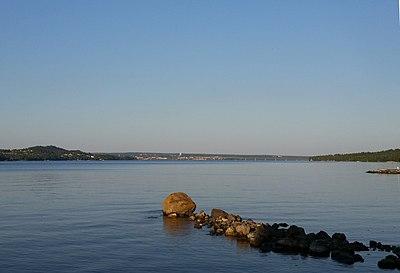 Utsikt över Storsjön från Hackas