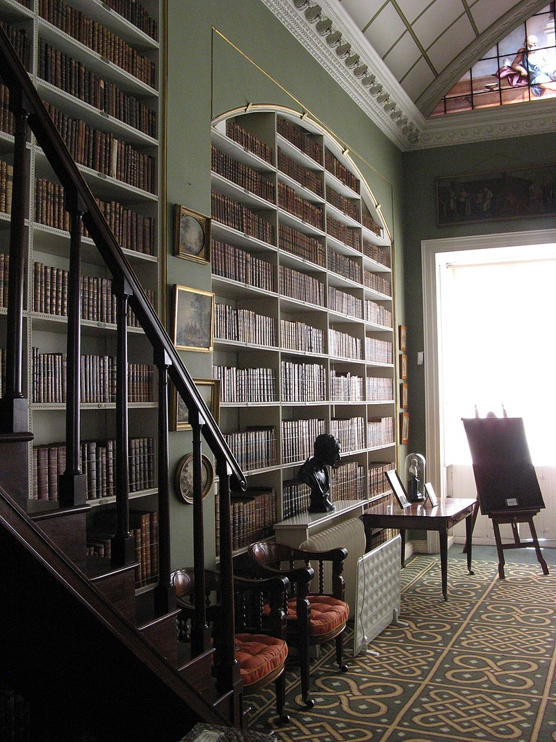 Stourhead House, Library, south-west corner.jpg