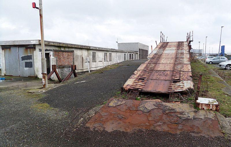 File:Stranraer Harbour railway station and old car loading ramp.jpg