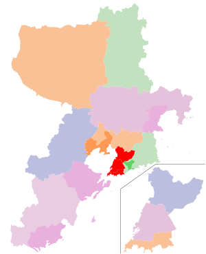 Subdivisions of Qingdao, China.svg
