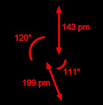 Sulfuryl chloride - Image: Sulfuryl chloride 2D dimensions