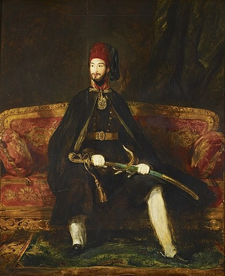Abdulmejid in his youth, by David Wilkie, 1840. Sultan Abdulmecid I.jpg