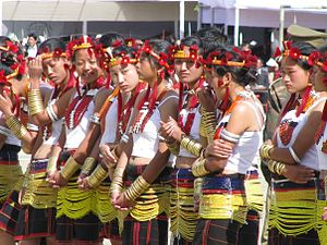 Sumi Naga - Sumi women in traditional costume.
