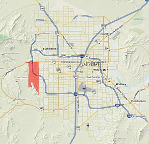 Summerlin South, Nevada - Image: Summerlin south in red