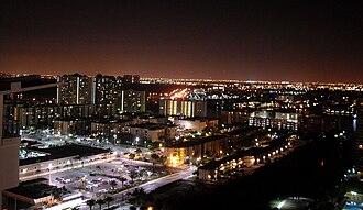 Sunny Isles Beach, Florida - City of Sunny Isles Beach by night