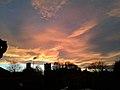 Sunset behind St. Oswalds Church, Fulford, York.jpg