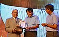 Suresh Prabhakar Prabhu presenting the Shellac and Forest Product Export Promotion Council (SHEFEXIL) Awards for Export Excellence, at a function, in Kolkata on 07 July 2018.JPG