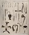 Surgical instruments. Engraving by Andrew Bell. Wellcome V0016383.jpg