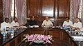 Sushilkumar Shinde presiding the second meeting of GoM to consider issues of bifurcation of the state of Andhra Pradesh and formation of a new state of Telangana, in New Delhi. The Union Finance Minister.jpg
