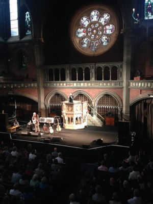 Suzanne Vega - Vega at Union Chapel, London, 2015. Improvising by using the pulpit