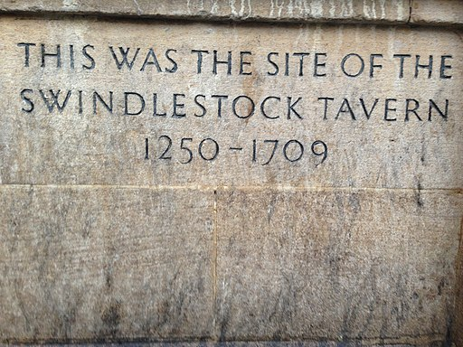 Swindlestock tavern plaque