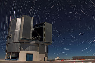 Celestial pole - The south celestial pole over the Very Large Telescope.