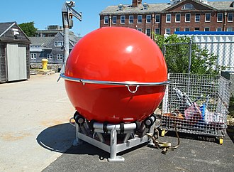 Mooring (oceanography) - Syntactic foam sphere used as a subsurface float