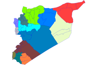 Districts of Syria - Image: Syria districts