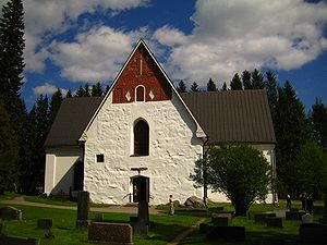 English: Church of Sysmä, Finland. Suomi: Sysm...