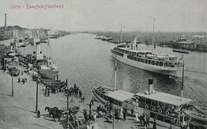 History of Szczecin - Port of Stettin 1900.